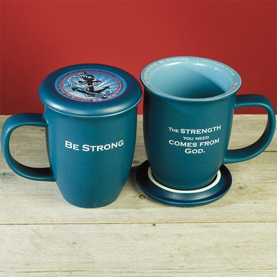 Mug And Coaster Be Strong ( Fathers day)