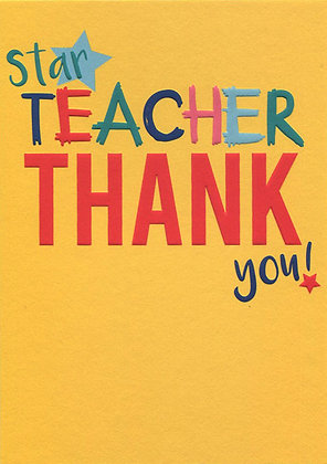 Star Teacher: Thank You  pack of 6