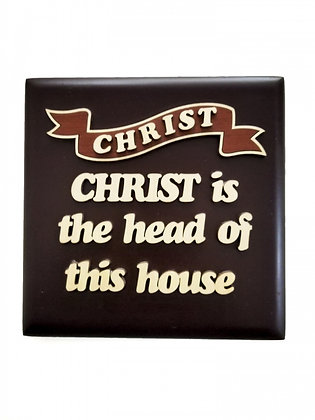 SQUARE PLAQUE - CHRIST IS THE HEAD