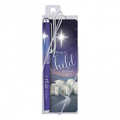 A Child Is Born Bookmark Christmas Gift Set