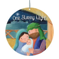 One Starry Night Card Christmas Tree Ornament Christmas Gift