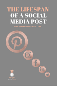 Social Media posts have different lifespans, which one has the longest..? Pinterest does.