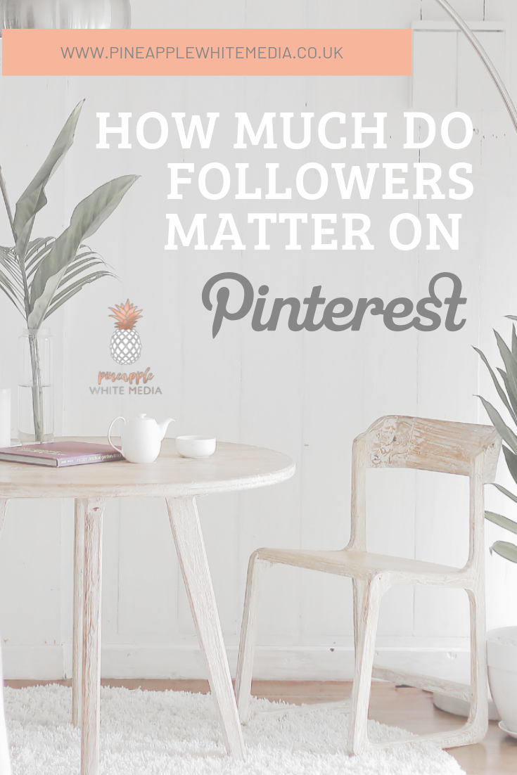 Followers on Pinterest, how much do the matter? Table and chairs with a cup of tea