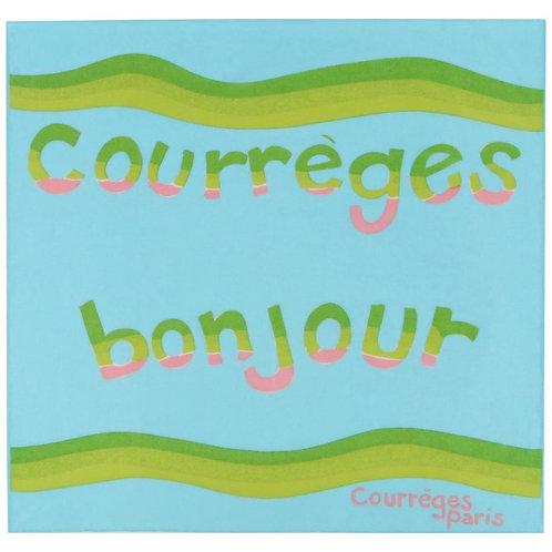 """Courrèges """"Bonjour"""" Square Scarf"""