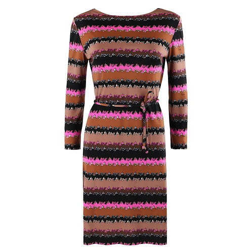 Emilio Pucci Abstract Belted Shift Dress