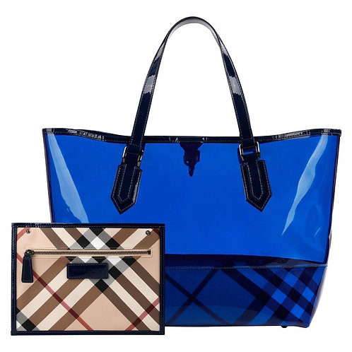 Burberry PVC Tote Bag & Pouch