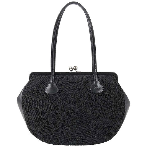 Chanel Woven Kiss Lock Purse