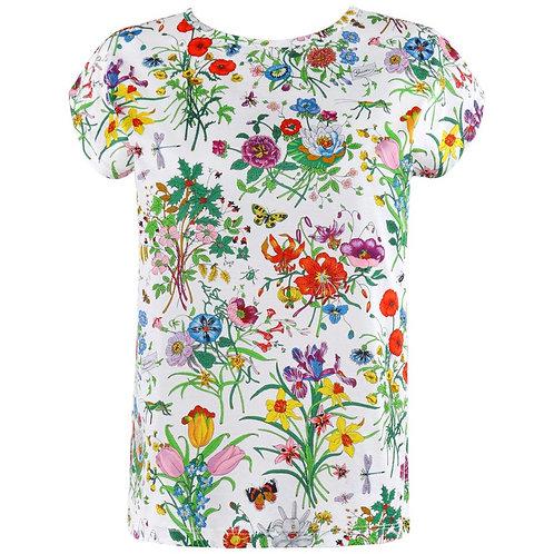 """Gucci """"Flora"""" T-Shirt Top"""