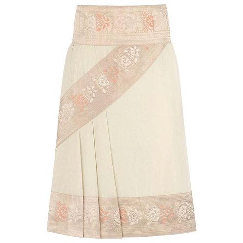 Alexander McQueen Cotton Brocade Skirt