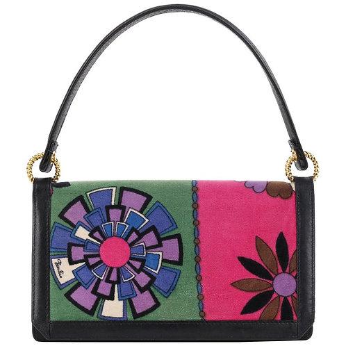 Emilio Pucci Velvet Leather Handbag