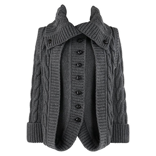 Alexander McQueen Cable Knit Layered Sweater