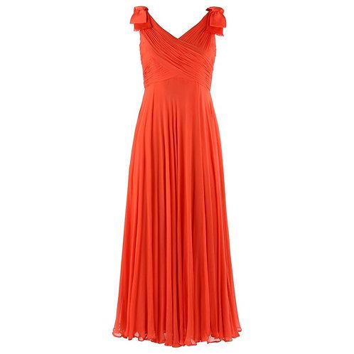 Lillie Rubin Silk Chiffon Maxi Dress