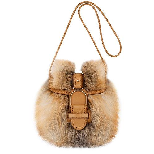 Jimmy Choo Fox Fur Shoulder Bag