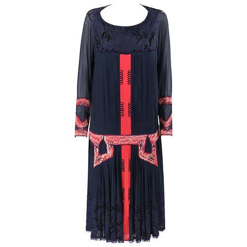 Sadie Nemser c.1920's Cubist Couture Dress