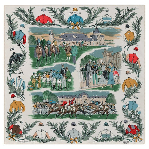 "Hermes ""Courses a Chantilly"" Scarf"