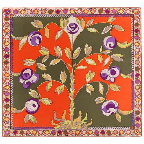 Emilio Pucci Floral Print Silk Scarf