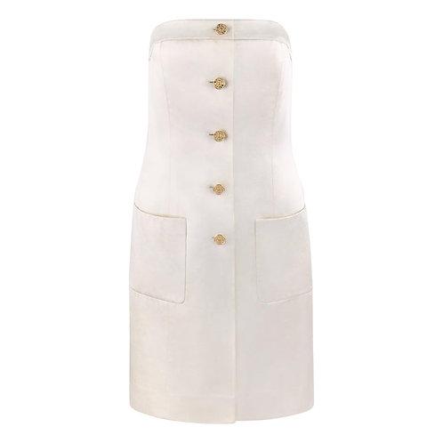 Chanel Satin Strapless Dress