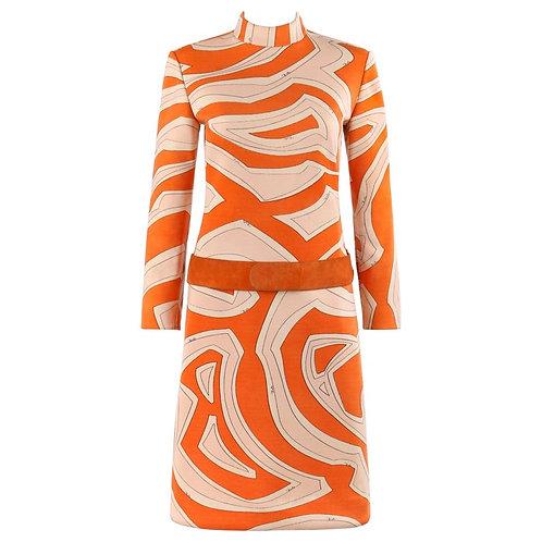 Emilio Pucci Drop Waist Belted Dress