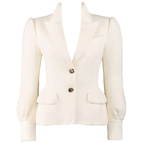 Yves Saint Laurent Tweed Blazer Jacket