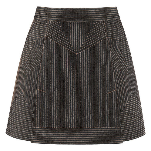 Alexander McQueen Top Stitched Mini Skirt