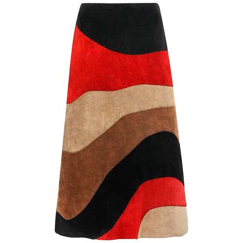 Anne Klein Suede Leather Skirt