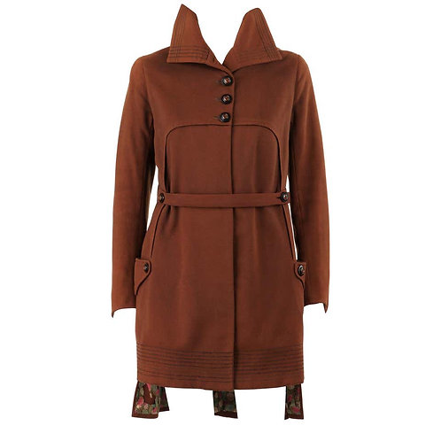 Couture c.1910's WWI Military Belted Coat