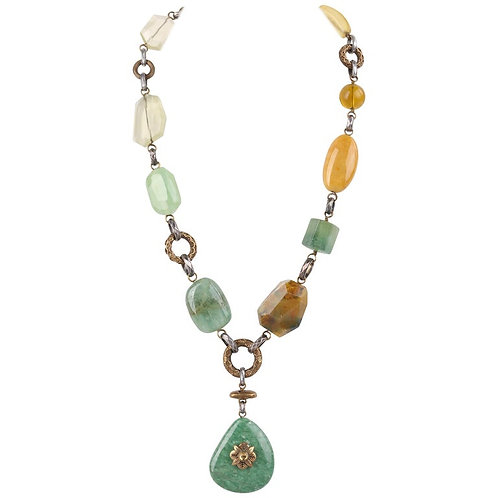 Stephen Dweck Stone Pendant Necklace