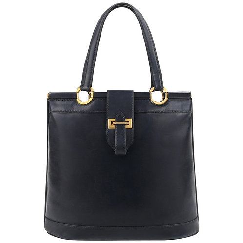 "Hermes ""Berry"" Calf Leather Handbag"