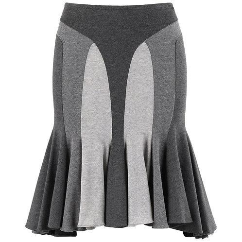Alexander McQueen Flared Ruffle Skirt