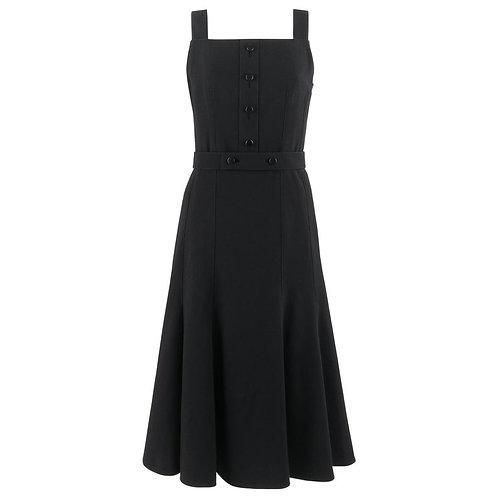 Courrèges Belted Fit & Flare Dress