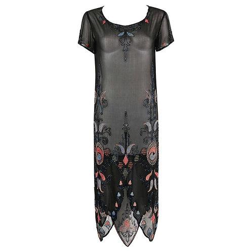 Couture c.1920's Flapper Evening Dress