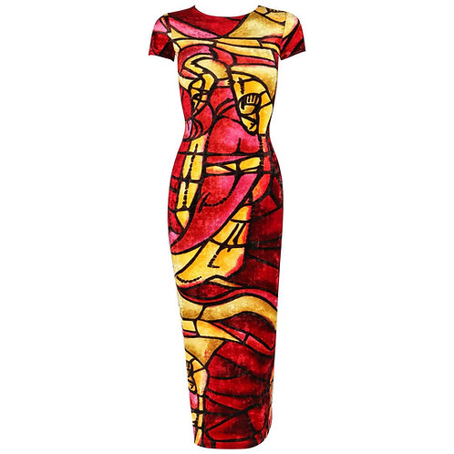 Christian Dior Stained Glass Bodycon Dress