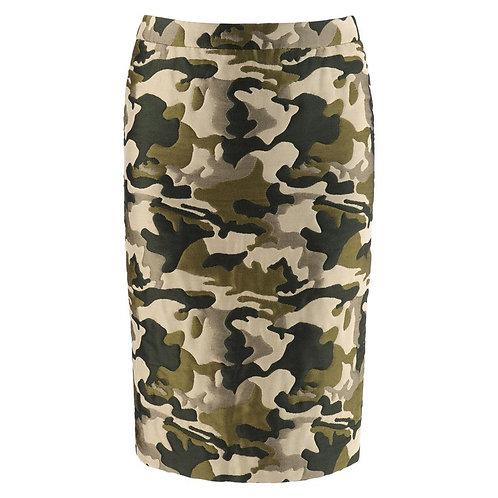 Alexander McQueen Camouflage Pencil Skirt