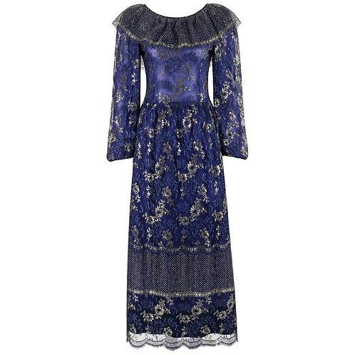 Lanvin Haute Couture c.1970s Maxi Dress