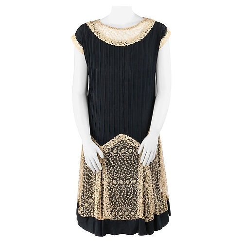 Couture c.1920's Flapper Dress Slip Set