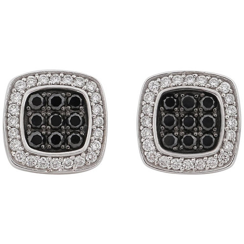 Jason Of Beverly Hills Black & White Diamond Earrings