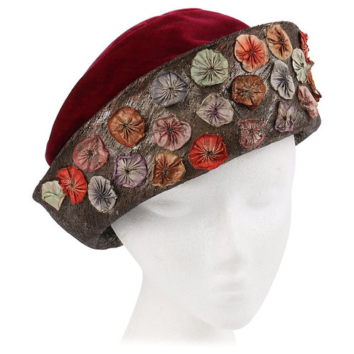 Millinery Couture c.1920's Cloche Hat