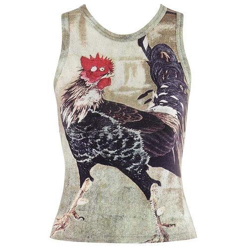 Alexander McQueen Rooster Print Top