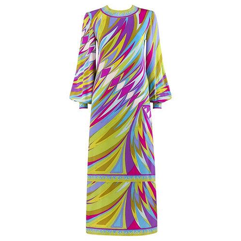 Emilio Pucci Op Art Maxi Dress