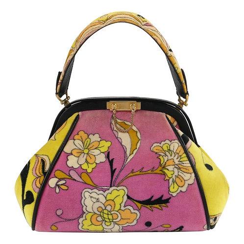 Emilio Pucci Velveteen Structured Handbag