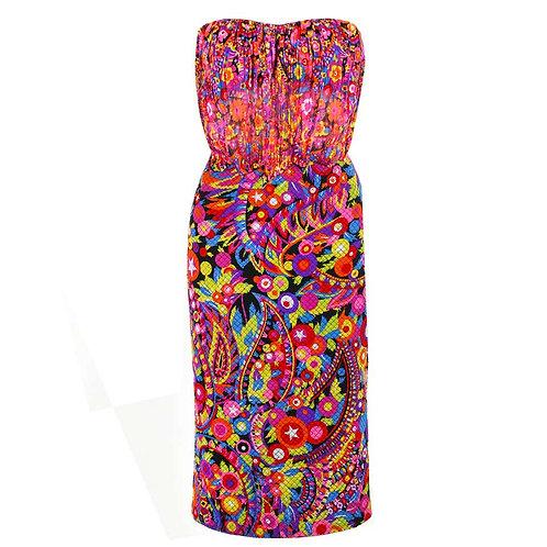 Gianni Versace Silk Strapless Dress