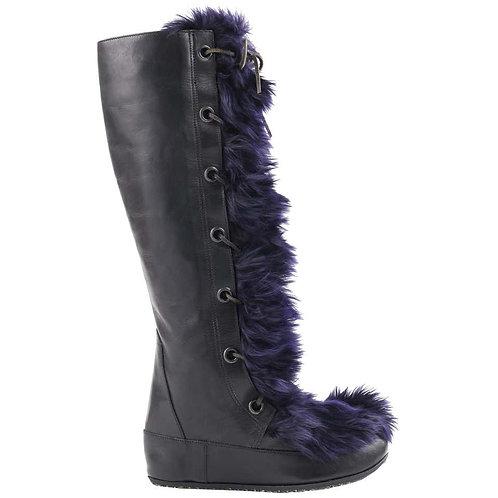 Marni Angora Fur Knee High Boots
