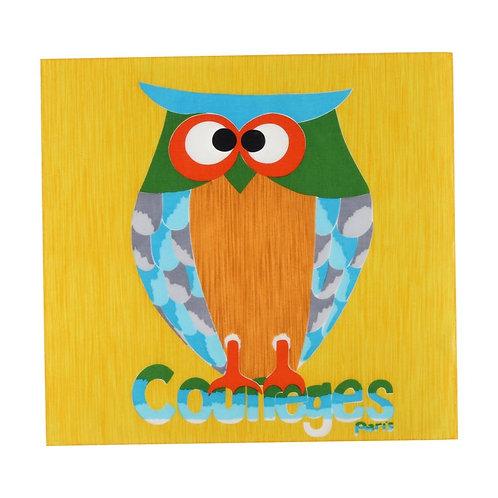 Courrèges Owl Square Scarf
