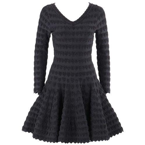 Alaia Heart Pattern Fit & Flare Dress