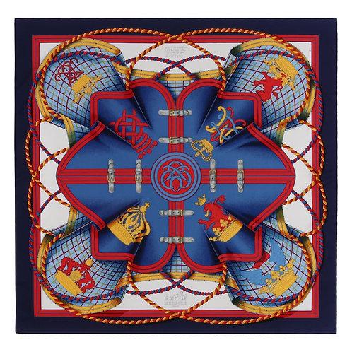 "Hermes ""Grande Tenue"" Royal Emblem Scarf"