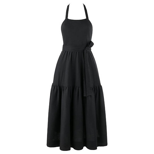 Halston Tiered Wrap Party Dress