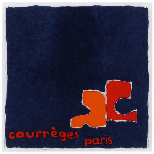 Courrèges Painterly Logo Square Scarf