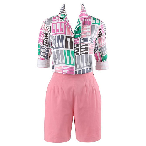Emilio Pucci Shirt Shorts Set