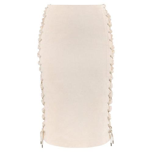 Alexander McQueen Lace Up Pencil Skirt
