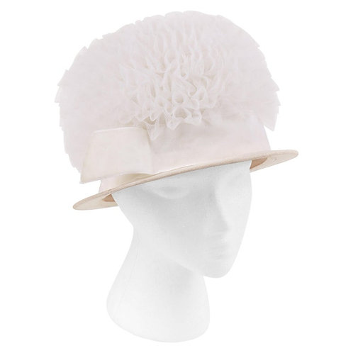 Hubert de Givenchy Tulle Cloche Hat